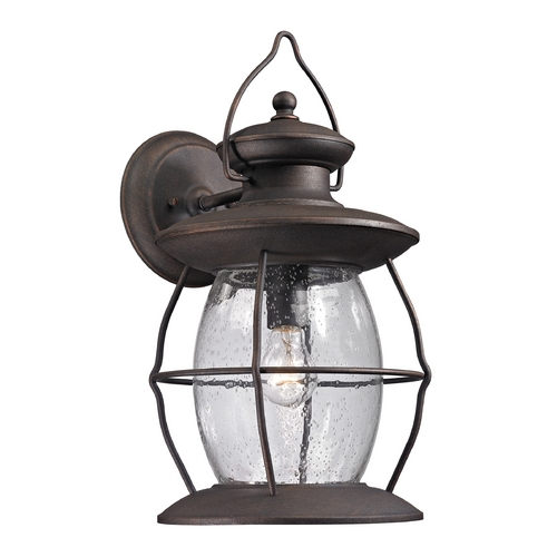 Elk Lighting Outdoor Wall Light with Clear Glass in Weathered Charcoal Finish 47044/1