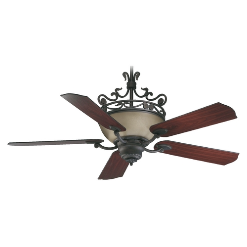 Quorum Lighting Quorum Lighting Turino Toasted Sienna Ceiling Fan with Light 63565-44