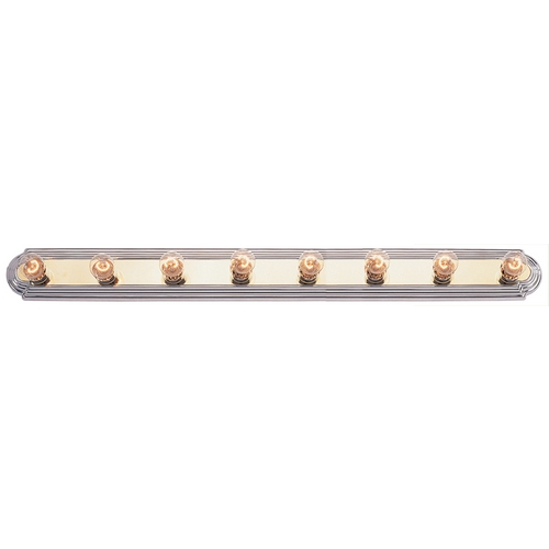 Livex Lighting Livex Lighting Polished Brass with Chrome Bathroom Light 1148-25