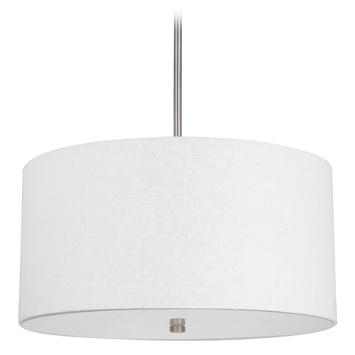Capital Lighting Capital Lighting Loft Matte Nickel Pendant Light with Drum Shade 3922MN-623