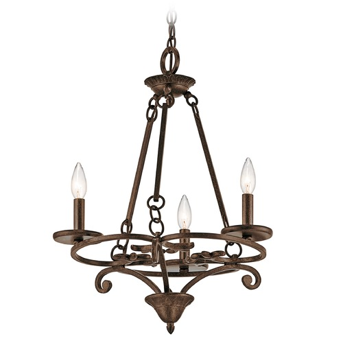Kichler Lighting Kichler Lighting Caldella Aged Bronze Mini-Chandelier 43770AGZ