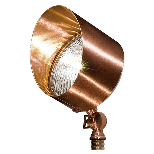 Dabmar Lighting Copper Solid Brass Directional Flood Light with Hood LV30-CP