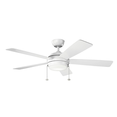Kichler Lighting Kichler Lighting Starkk Matte White LED Ceiling Fan with Light 330174MWH