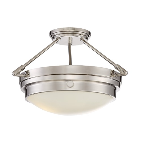 Savoy House Savoy House Lighting Lucerne Polished Nickel Semi-Flushmount Light 6-3352-2-109