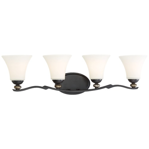 Minka Lavery Minka Shadowglen Lathan Bronze with Gold Bathroom Light 2284-589