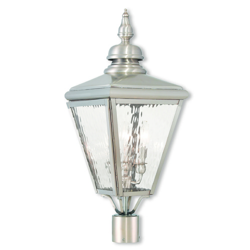 Livex Lighting Livex Lighting Cambridge Brushed Nickel Post Light 20433-91