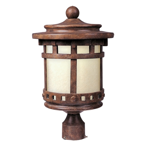 Maxim Lighting Post Light with Beige / Cream Glass in Sienna Finish 85036MOSE