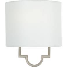 Quoizel Lighting Sconce Wall Light with White Paper Shade in Pewter Plated Finish LSM8801PS