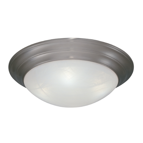 Designers Fountain Lighting Flushmount Light with Alabaster Glass in Pewter Finish 1245XL-PW