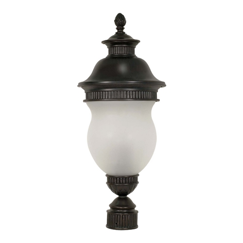 Nuvo Lighting Post Light with White Glass in Chestnut Bronze Finish 60/883
