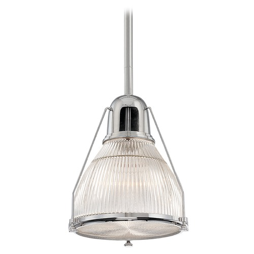 Hudson Valley Lighting Prismatic Glass Pendant Light Polished Nickel Hudson Valley Lighting 7311-PN