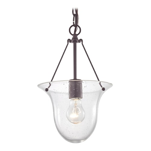 Design Classics Lighting Industrial Seeded Glass Bowl Pendant Light Bronze 1 Lt 1818-30  G1818-CS