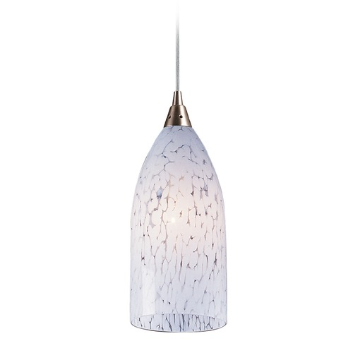 Elk Lighting Elk Lighting Verona Satin Nickel Mini-Pendant Light with Bowl / Dome Shade 502-1SW-LA