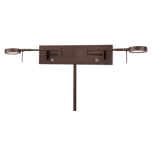 George Kovacs Lighting Modern LED Swing Arm Lamp in Copper Bronze Patina Finish P4309-647