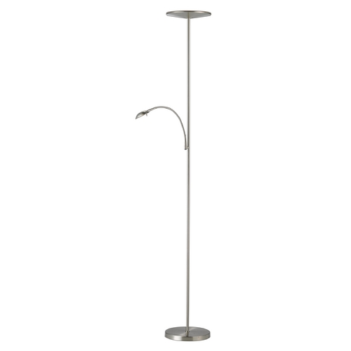 Adesso Home Lighting Adesso Home Lighting Pluto Satin Steel LED Torchiere Lamp 5134-22