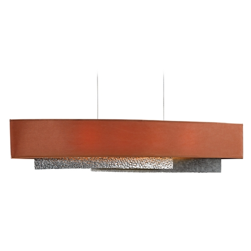 Hubbardton Forge Lighting Hubbardton Forge Lighting Oceanus Vintage Platinum Island Light with Rectangle Shade 137675-82-643