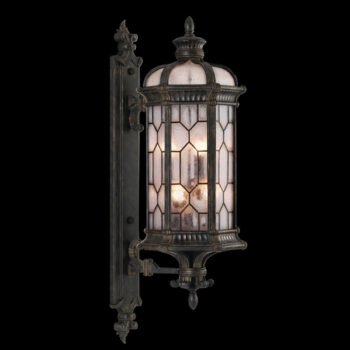 Fine Art Lamps Fine Art Lamps Devonshire Antiqued Bronze Outdoor Wall Light 414081ST