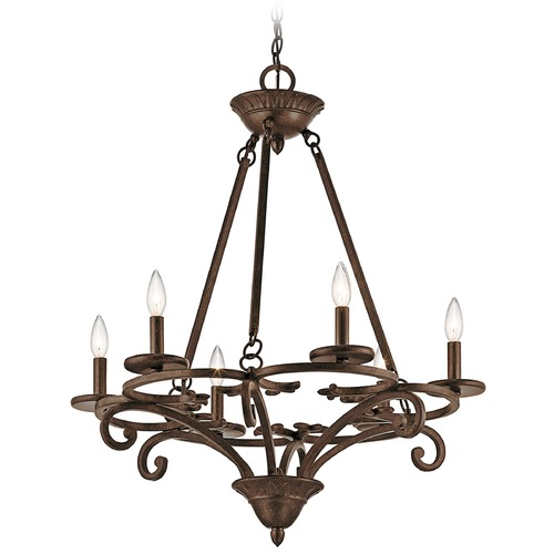 Kichler Lighting Kichler Lighting Caldella Aged Bronze Chandelier 43771AGZ