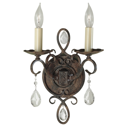 Feiss Lighting Sconce Wall Light in Mocha Bronze Finish WB1227MBZ