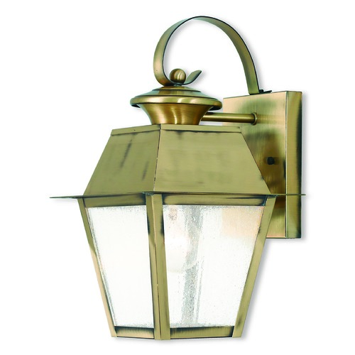 Livex Lighting Livex Lighting Mansfield Antique Brass Outdoor Wall Light 2162-01