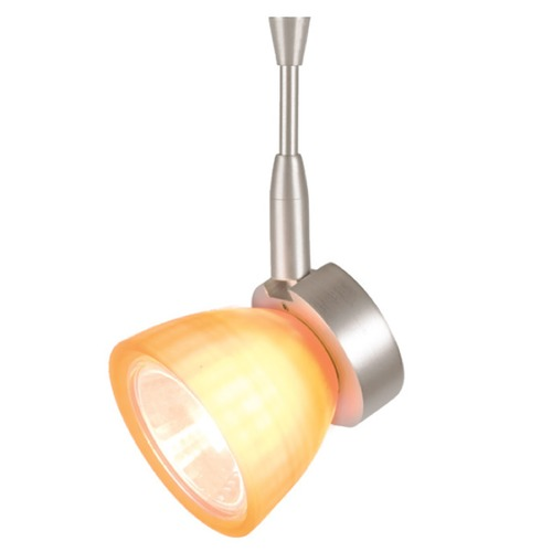 WAC Lighting WAC Lighting Mint Brushed Nickel Track Light with Amber Shade QF-811-AM/BN