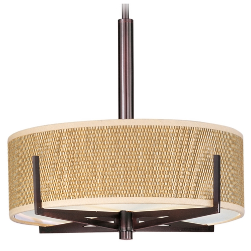 ET2 Lighting Modern Pendant Light with Brown Tones Shades in Oil Rubbed Bronze Finish E95305-101OI