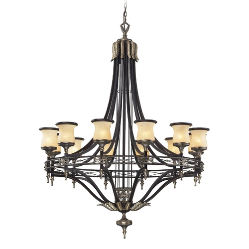Elk Lighting Chandelier in Antique Bronze & Dark Umber Finish 2434/12