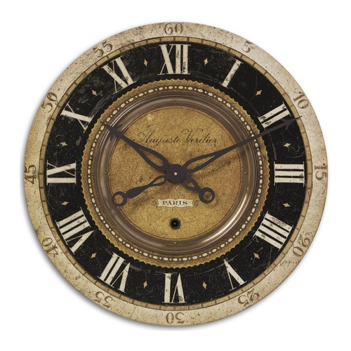 Uttermost Lighting Clock in Brass Finish 06028