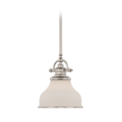 Quoizel Lighting Modern Mini-Pendant Light with White Glass GRT1508IS