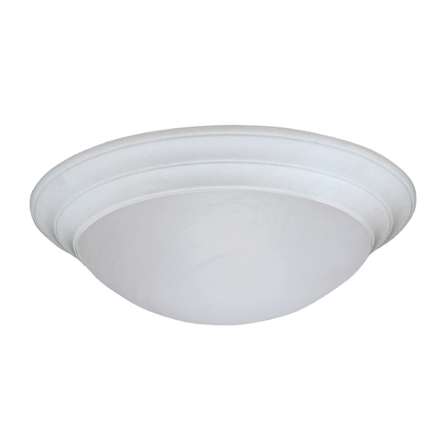 Designers Fountain Lighting Flushmount Light with Alabaster Glass in White Finish 1245XL-WH