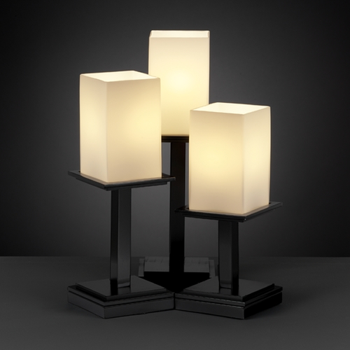 Justice Design Group Justice Design Group Fusion Collection Table Lamp FSN-8697-15-OPAL-MBLK