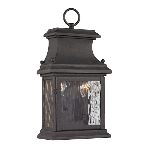 Elk Lighting Outdoor Wall Light with Clear Glass in Charcoal Finish 47050/2