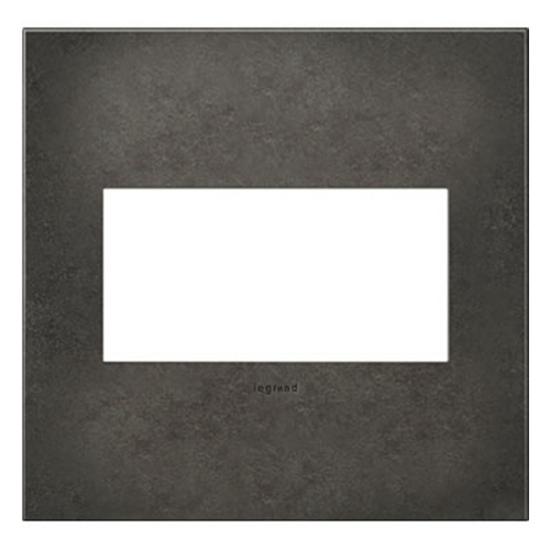 Legrand Adorne Legrand Adorne Dark Burnished Pewter 2-Gang Switch Plate AWC2GDP4