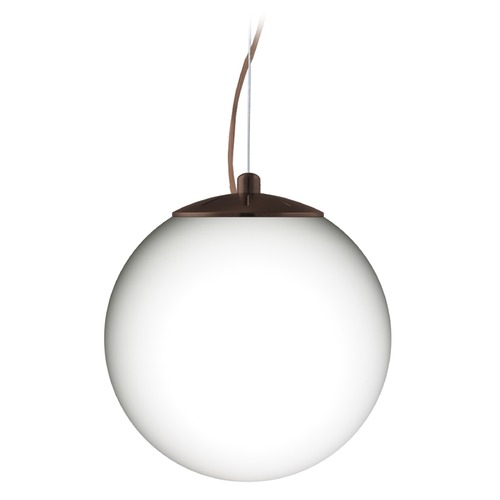 Besa Lighting Besa Lighting Callisto Bronze LED Pendant Light with Globe Shade 1KX-432807-LED-BR