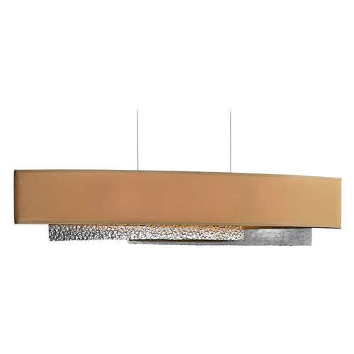 Hubbardton Forge Lighting Hubbardton Forge Lighting Oceanus Vintage Platinum Island Light with Rectangle Shade 137675-82-644