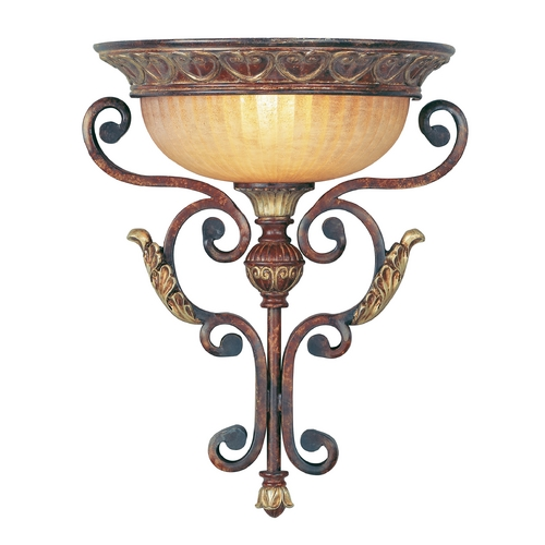 Livex Lighting Livex Lighting Villa Verona Bronze with Aged Gold Leaf Accents Sconce 8580-63