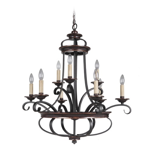 Craftmade Lighting Craftmade Stafford Aged Bronze/textured Black Chandelier 38729-AGTB