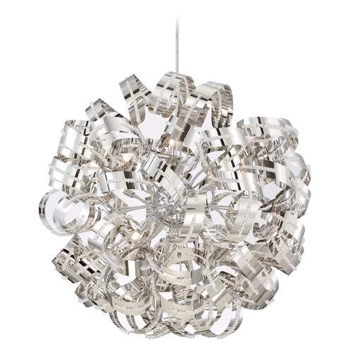 Quoizel Lighting Quoizel Ribbons Crystal Chrome Pendant Light RBN2831CRC