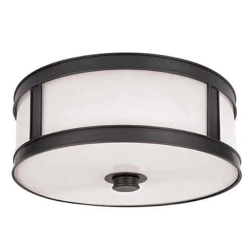 Hudson Valley Lighting Flushmount Light with White Glass in Old Bronze Finish 5516-OB