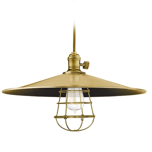 Hudson Valley Lighting Pendant Light in Aged Brass Finish 8001-AGB-ML1-WG