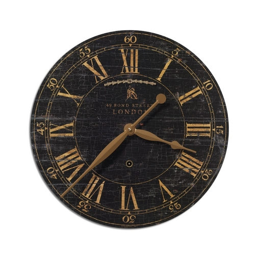 Uttermost Lighting Clock in Weathered Crackle Finish 06029