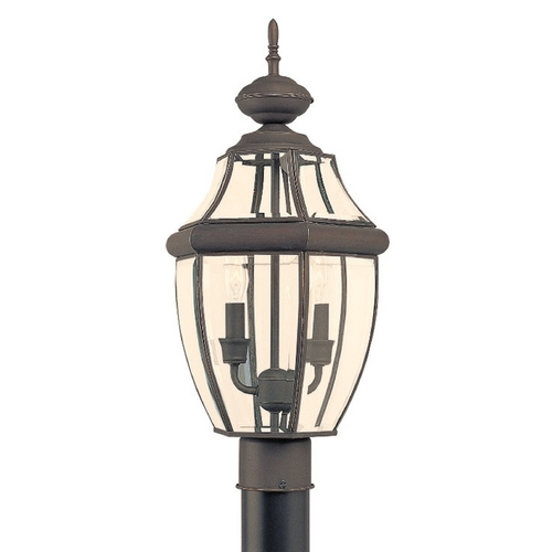 Sea Gull Lighting Post Light with Clear Glass in Antique Bronze Finish 8229-71