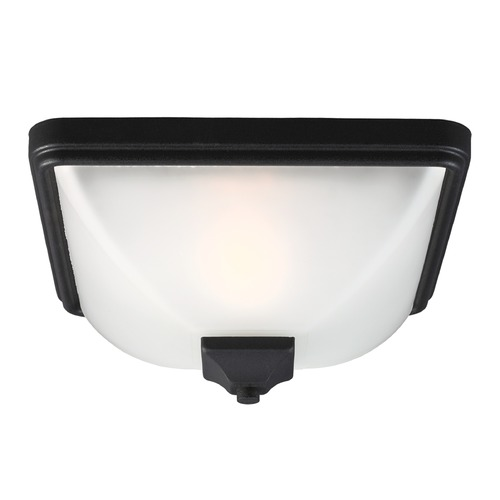 Sea Gull Lighting Sea Gull Lighting Irving Park Black Close To Ceiling Light 7828401BLE-12