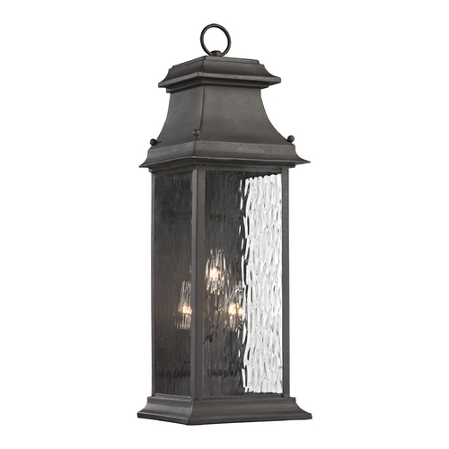 Elk Lighting Outdoor Wall Light with Clear Glass in Charcoal Finish 47051/3