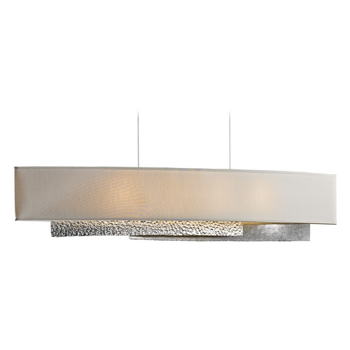 Hubbardton Forge Lighting Hubbardton Forge Lighting Oceanus Vintage Platinum Island Light with Rectangle Shade 137675-82-763