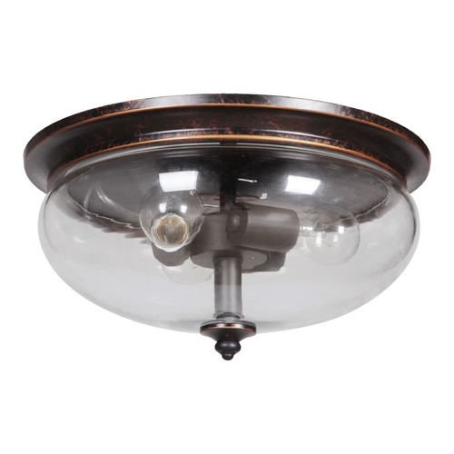 Craftmade Lighting Craftmade Stafford Aged Bronze/textured Black Flushmount Light 38783-AGTB