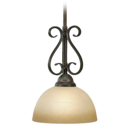 Golden Lighting Golden Lighting Riverton Peppercorn Mini-Pendant Light 1567-M1L PC