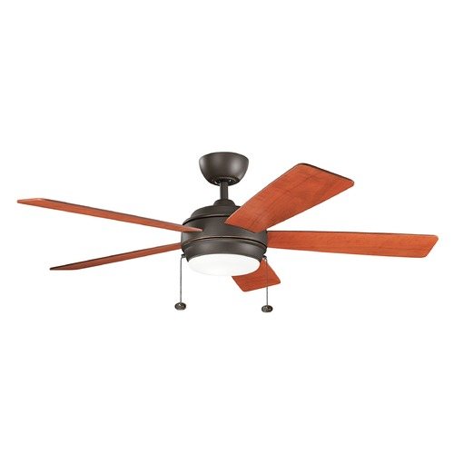 Kichler Lighting Kichler Lighting Starkk Olde Bronze LED Ceiling Fan with Light 330174OZ