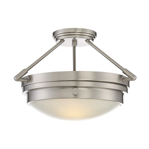 Savoy House Savoy House Lighting Lucerne Satin Nickel Semi-Flushmount Light 6-3352-2-SN