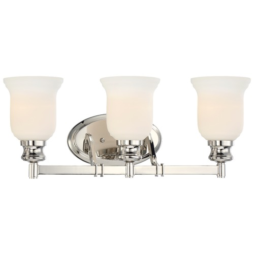 Minka Lavery Minka Audrey's Point Polished Nickel Bathroom Light 3293-613